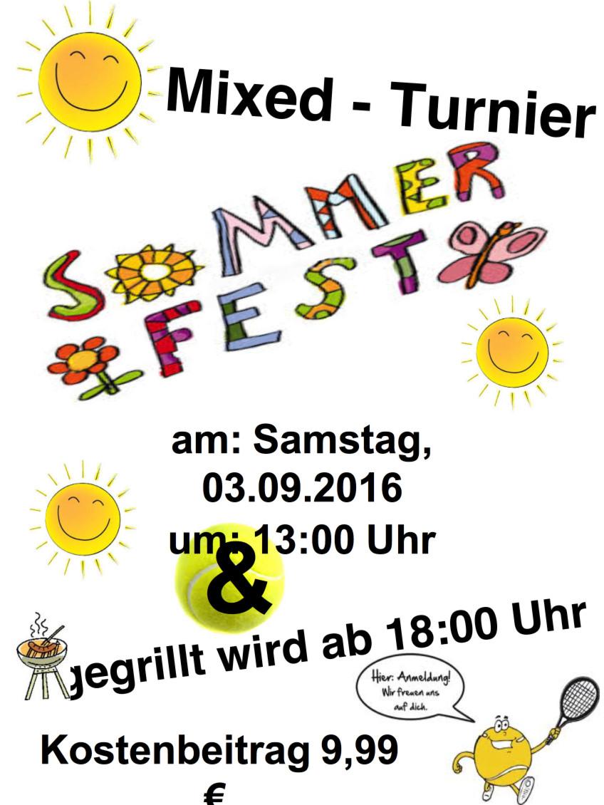 Mixed Turnier und Sommerfest….